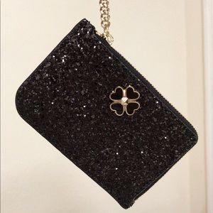 💃Kate Spade odette glitter l-zip card holder